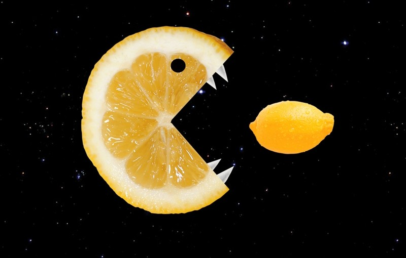 Funny Lemon Eats Lemon