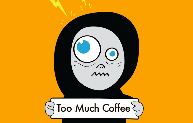 Funny Coffee Character Cartoon