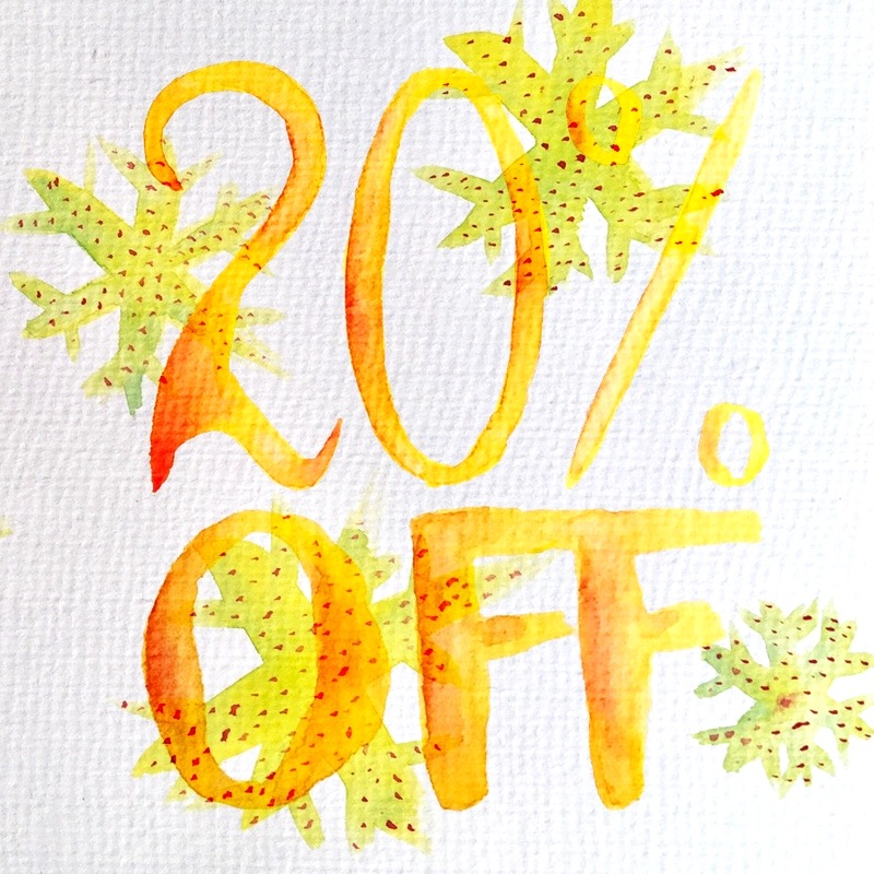 Discount at redbubble watercolor art