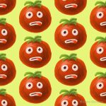 Funny Tomato Illustration And Pattern