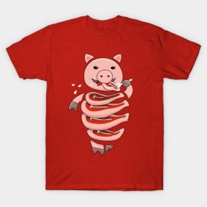 Self-eating pig t-shirt