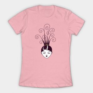 Strange hairstyle women's t-shirt