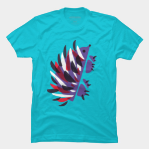 Colorful abstract hedgehog t-shirt by boriana at Design By Humans