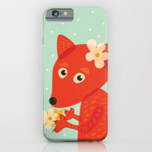 Cute fox and flowers iPhone cases / Society6