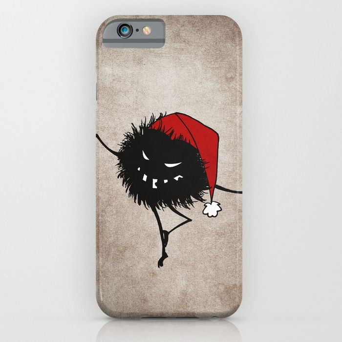 Evil Christmas bug iPhone case