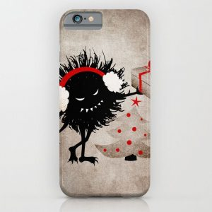 Evil bug gives a Christmas present iPhone case