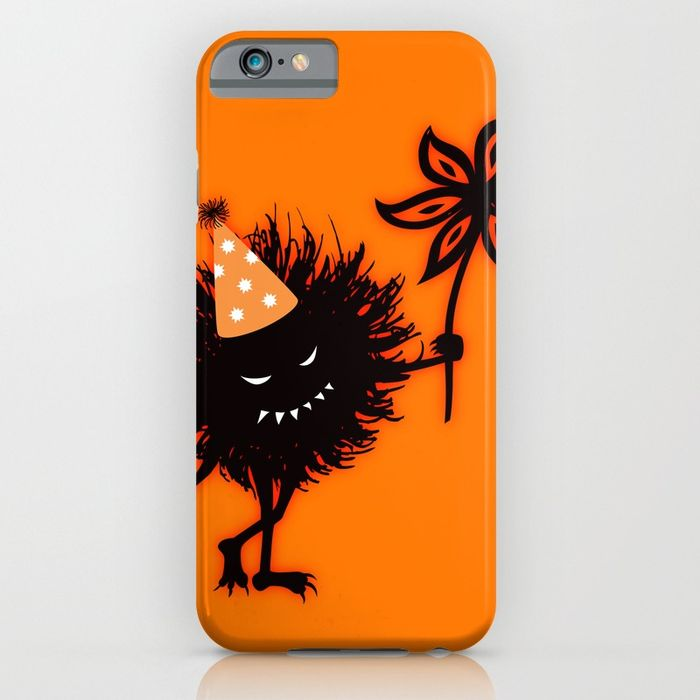 Evil bug throws a halloween party iPhone case