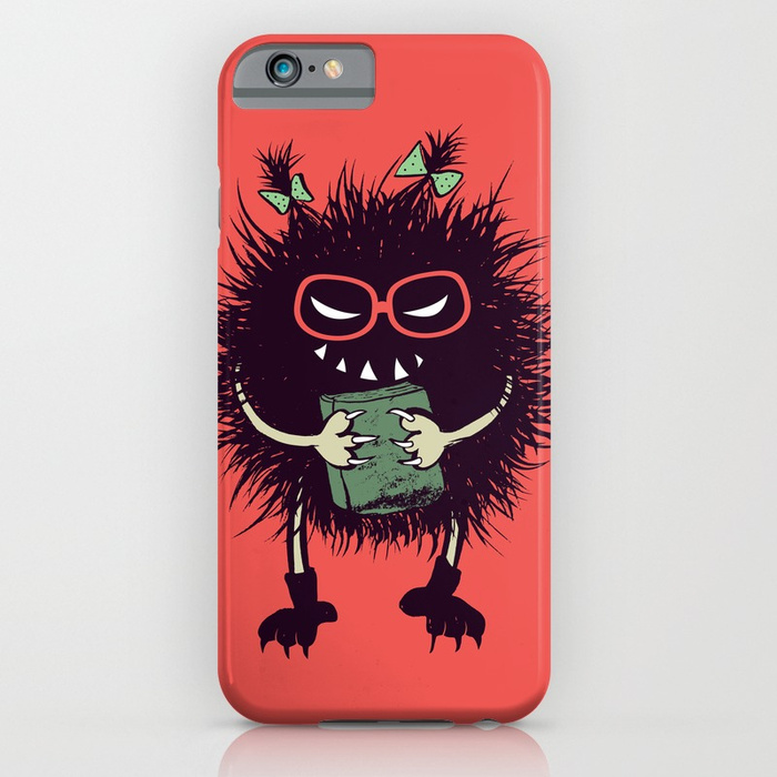 Geek evil bug student iPhone case at Society6