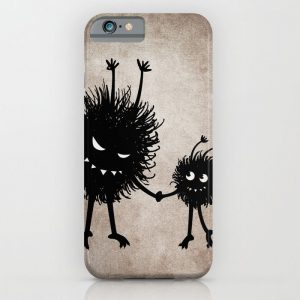 Evil bug mother and child iPhone case