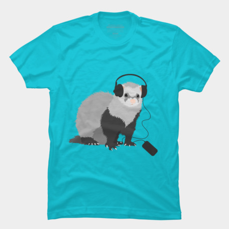Funny animals t-shirts featuring ferret by boriana at Design By Humans