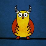 Horned owl illustration and products