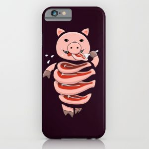Stupid gluttonous pig iPhone case