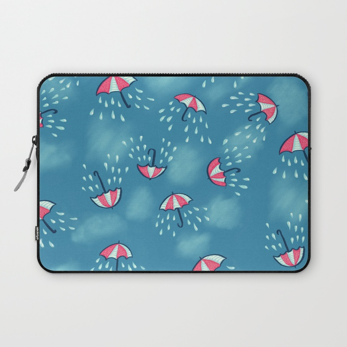 Umbrella pattern with rain laptop sleeve / Society6