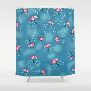 Umbrella pattern with rain shower curtain / Society6