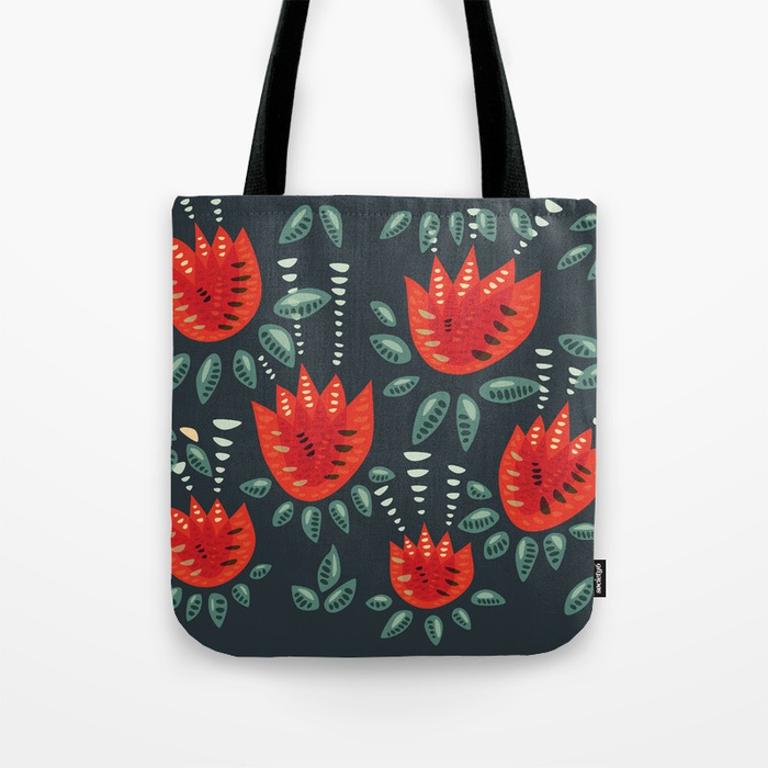 Tulip pattern tote bag / Society6