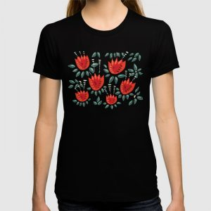 Tulip pattern t-shirt / Society6