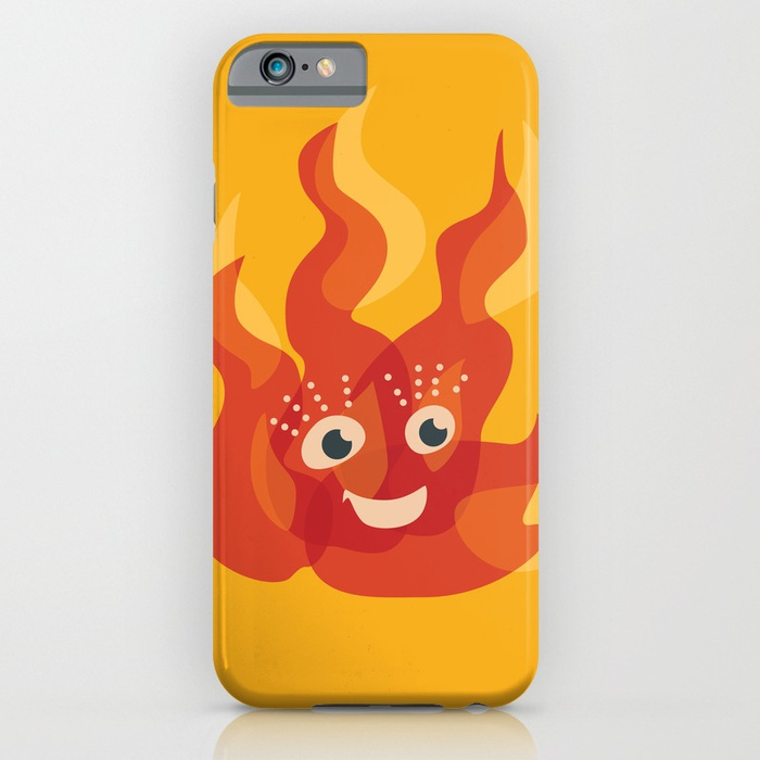 Cute flame character iPhone case / Society6