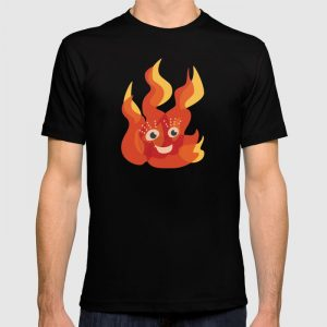 Cute flame character t-shirt / Society6