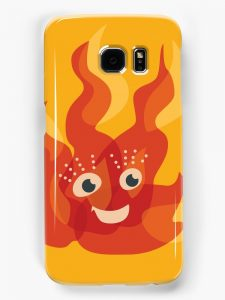 Cute fire flame Samsung Galaxy S7 case / Redbubble