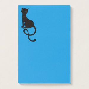 Gracious Evil Black Cat post-it notes