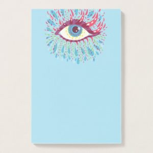 Blue Psychedelic Eye post-it notes