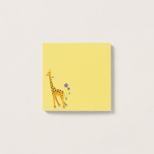 Cute Roller skating giraffe post-it notes at Zazzle