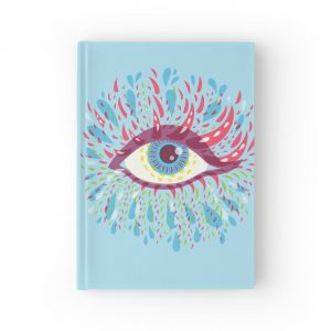 Blue psychedelic eye hardcover notebook / Redbubble