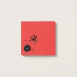 Evil Flower Bug post-it notes