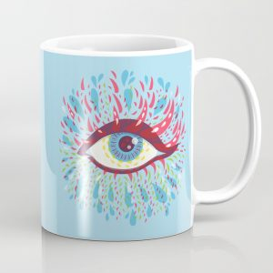 Blue psychedelic eye mug / Society6