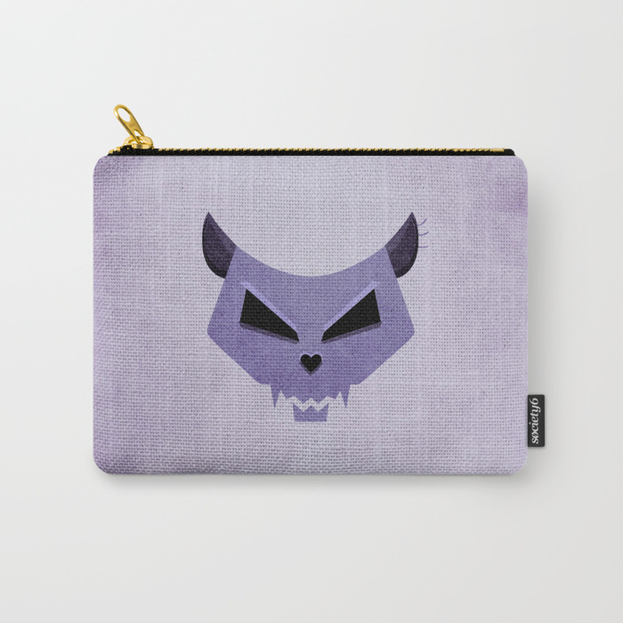 Purple Funny Evil Cat Skull iPhone case / Society6