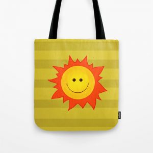 Happy Sun tote bag / Society6