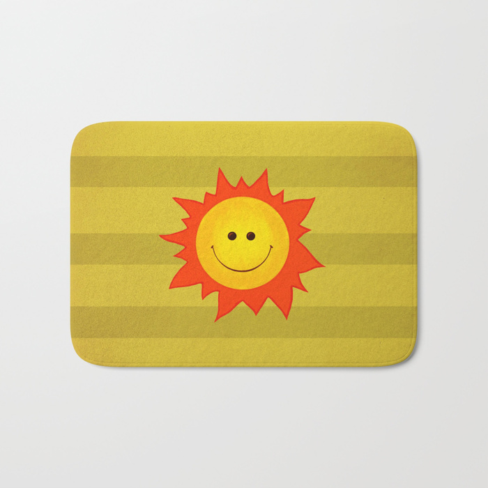 Happy Sun bathmat / Society6
