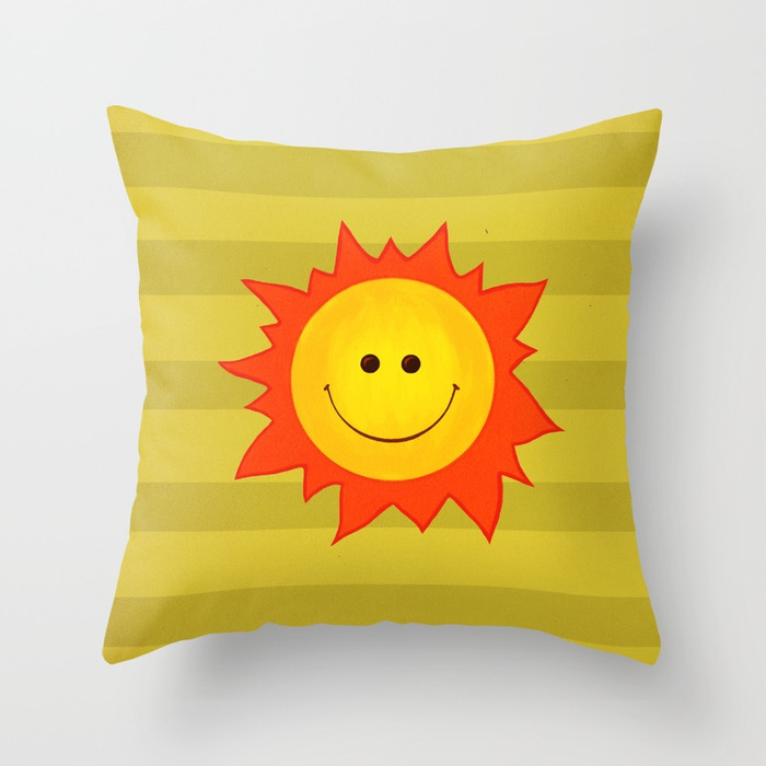 Happy Sun pillow / Society6