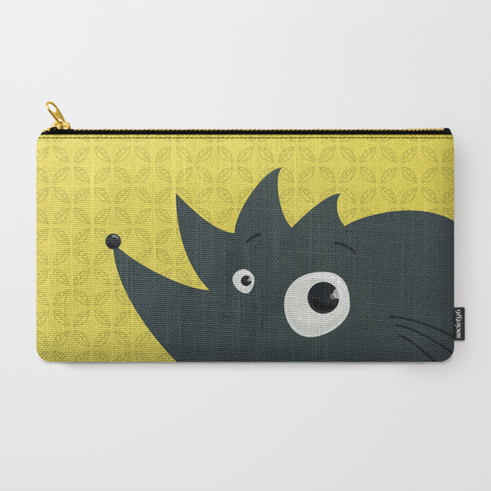 Abstract hedgehog character pouch at Society6