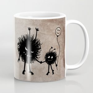 Evil bug mother and child mug at Society6