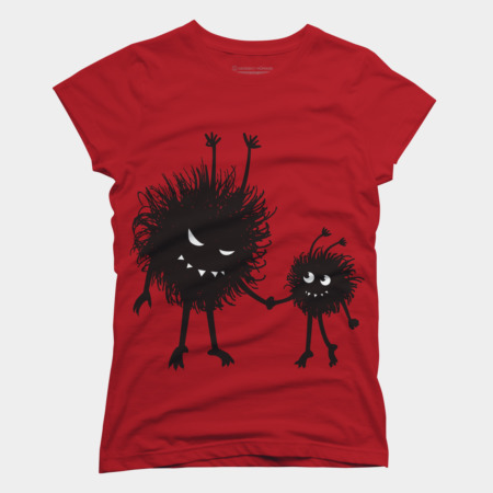 Gothic mom tshirt with a small family of evil bugs at Design By Humans
