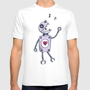 Robot character t-shirt at Society6