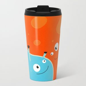 Happy mother and child metal travel mug at Society6