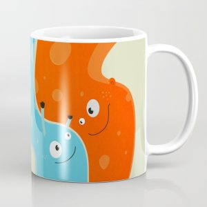 Happy mother and child mug at Society6