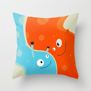 Happy mother and child pillow at Society6
