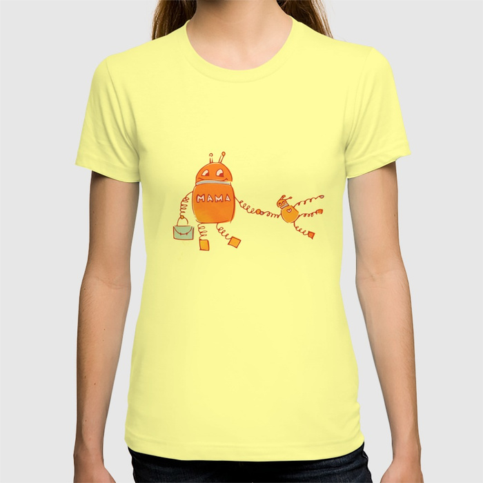 Robomama robot mother and child T-Shirt at Society6