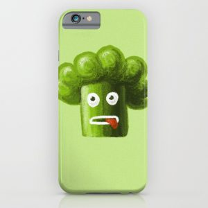 Funny broccoli character iPhone case at Society6