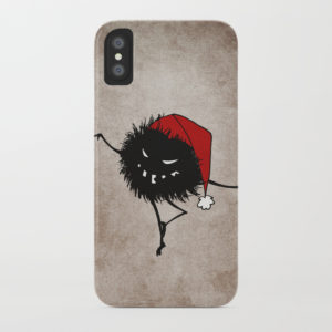 Dancing Christmas bug iPhone X case at Society6