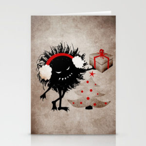 Evil Bug Gives Christmas Present card at Society6