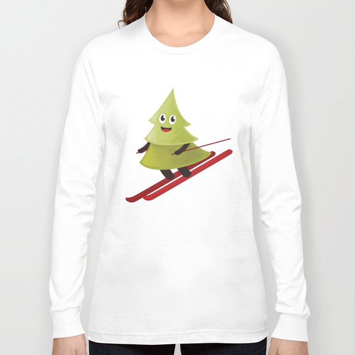 Pine tree on ski shirt at Society6