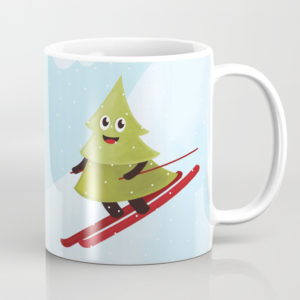 Pine tree on ski mug at Society6