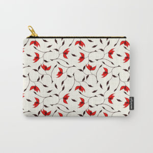 Strange red flowers pattern at Society6