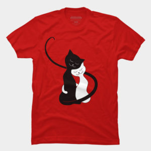 Hugging Love Cats T-Shirt at Design By Humans