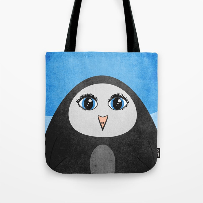 Geometric penguin bag at Society6