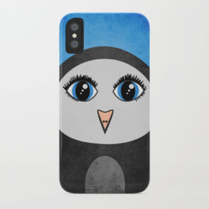 Geometric penguin iPhone case at Society6